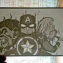 Download free 3D printer designs Little Avengers  lithophane, 3dlito
