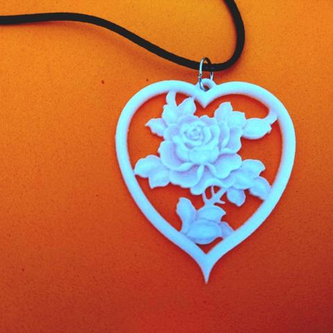 Free stl files Rose pendant, 3dlito