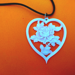 Download free 3D printer templates Rose pendant, 3dlito