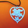 Télécharger fichier imprimante 3D gratuit roses pendentif, 3dlito
