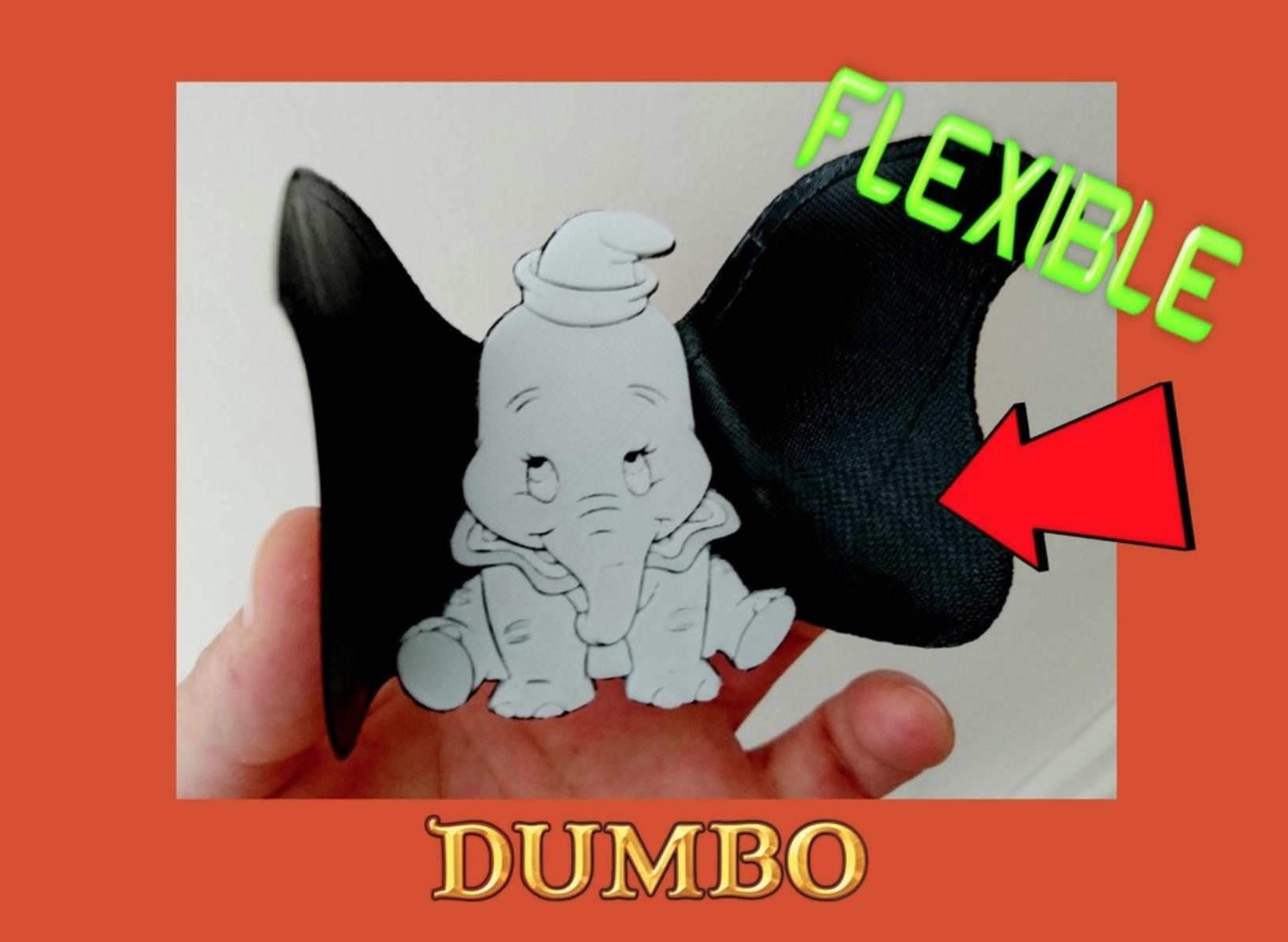 Capture d'écran 2017-10-07 à 18.25.50.png Download free STL file Dumbo flexible 3D drawing • Design to 3D print, 3dlito