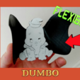 Download free 3D printing designs Dumbo flexible 3D drawing, 3dlito
