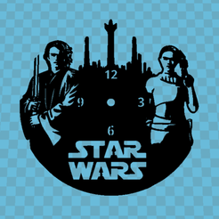 star wars.png Download STL file STAR WARS V2 CLOCK • 3D printing design, 3dlito