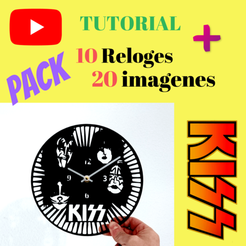 Download 3D printing files Tutorial wall clock vinyl KISS, 3dlito