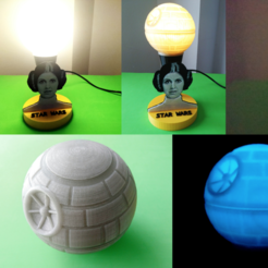Free 3d printer files Princess lamp leia (star wars), 3dlito