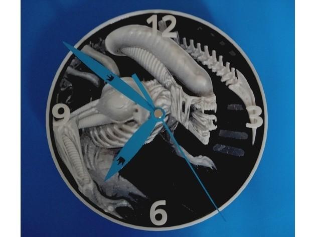 8dd56ea36687e83a648fae2ecb6912e2_preview_featured.jpg Download free STL file Alien Clock 3D • Model to 3D print, 3dlito