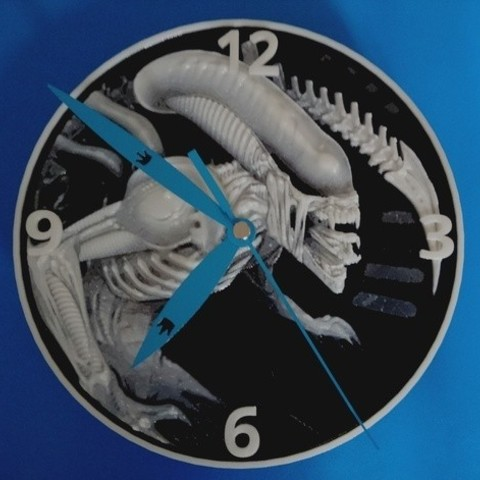 Archivos STL gratis Alien Reloj 3D, 3dlito