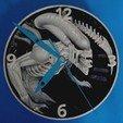 Free 3d printer files Alien Clock 3D, 3dlito