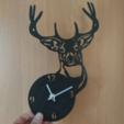 Descargar modelos 3D para imprimir Reloj Ciervo, 3dlito