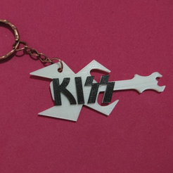 Free stl file KISS 3D KEY CHAIN, 3dlito