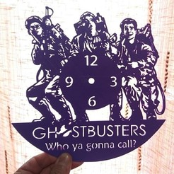 Free STL Ghostbusters WALL CLOCK, 3dlito