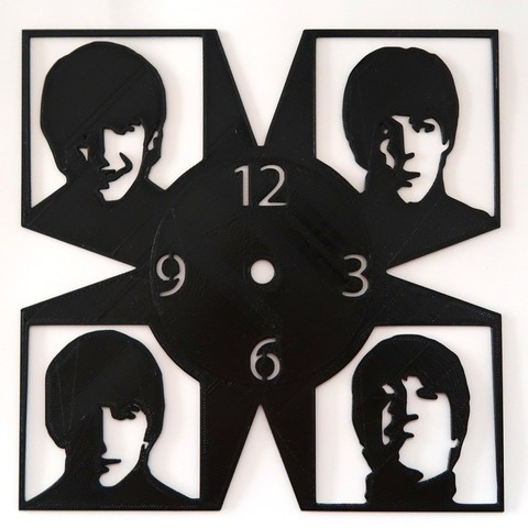d4207b44ea59837a8133235a5114ae75_display_large.jpg Download free STL file Reloj Beatles • Model to 3D print, 3dlito