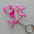 Download free 3D printing designs shark keychain, 3dlito