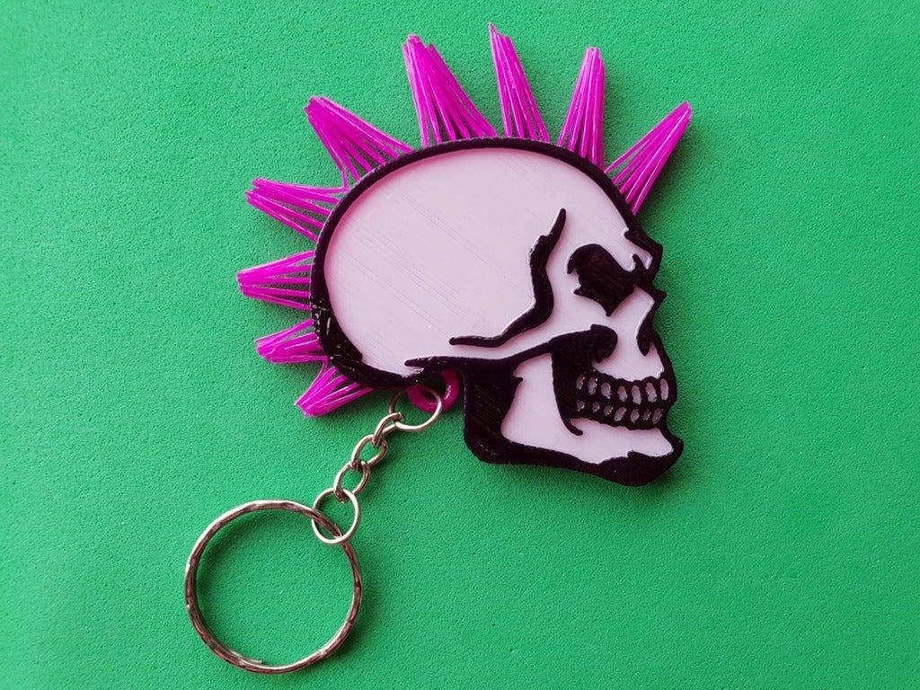 522358fe360c26d843b4cc1d9f953ed8_display_large.jpg Télécharger fichier STL gratuit Porte-clés tête de mort avec cheveux • Modèle pour imprimante 3D, 3dlito