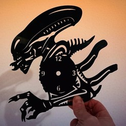 Download free STL file Reloj ALIEN, 3dlito