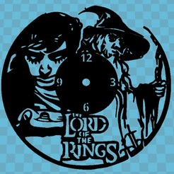 the lord fo the rings.jpg Download free STL file THE LORD OF THE RINGS WATCH v2 • 3D printer design, 3dlito