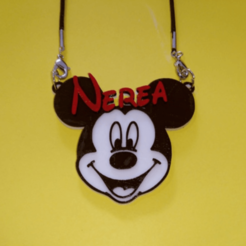 Free 3D printer designs Pendant Nerea Mickey, 3dlito