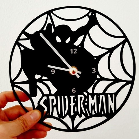 Download free STL Reloj Spiderman, 3dlito