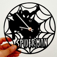 Free 3D printer designs Reloj Spiderman, 3dlito