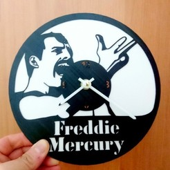 Download free 3D model Reloj Queen Freddie Mercury, 3dlito