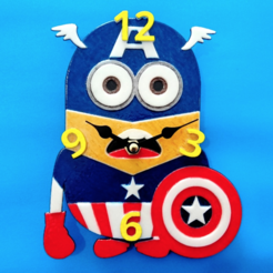 Download free 3D printing models Minions 3D Clock, 3dlito