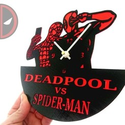 Free STL file Reloj DEADPOOL VS SPIDER-MAN, 3dlito