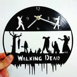 Free 3D printer designs Reloj Walking Dead, 3dlito