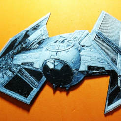 Download free 3D print files Star Wars Combat Ship 3D Drawing, 3dlito