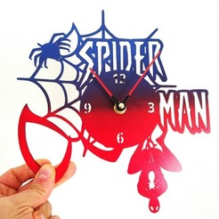 Free 3d printer designs Reloj spiderman V2, 3dlito