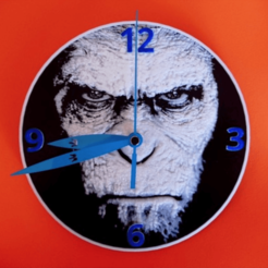 Free 3d print files 3D Clock Planet of the Apes, 3dlito