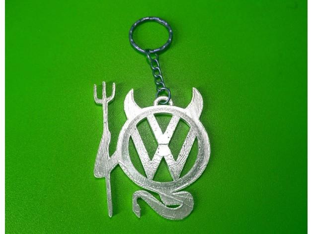 602ecca4e16be054c70a4d0e14a4c8d8_preview_featured.jpg Télécharger fichier STL gratuit Porte-clés Volkswagen • Design imprimable en 3D, 3dlito