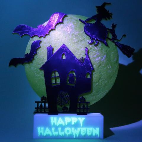 Capture d'écran 2017-10-31 à 09.36.27.png Download free STL file Happy Halloween • 3D printable template, 3dlito