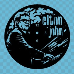 Download free 3D printing models ELTON JOHN WATCH, 3dlito