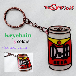 Sin Título(24).png Download STL file Key ring DUFF Simpsons • 3D printable object, 3dlito