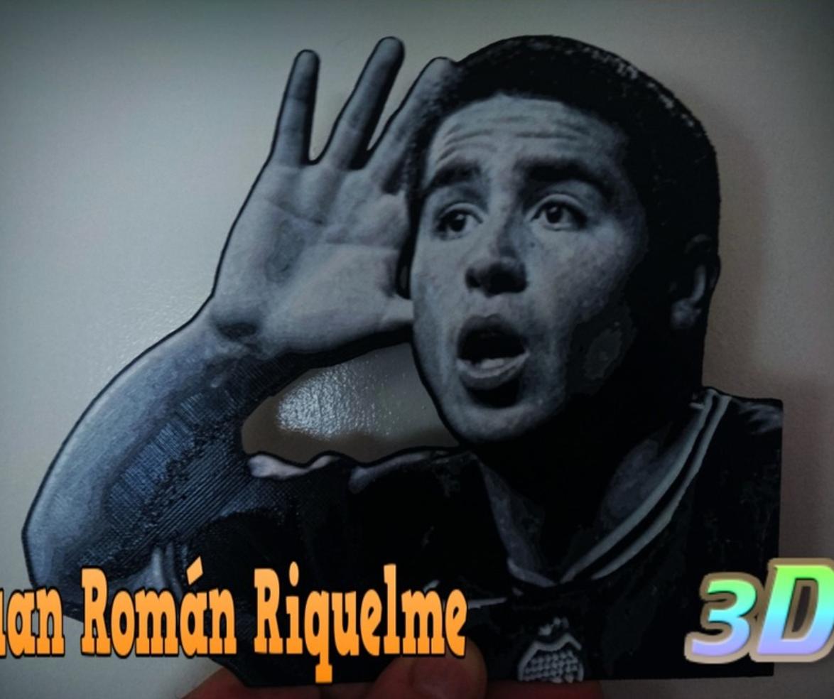 Capture d'écran 2017-07-18 à 17.33.12.png Télécharger fichier STL gratuit Juan Román Riquelme dibujo 3D • Design imprimable en 3D, 3dlito