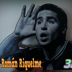 Download free 3D printer model Juan Román Riquelme dibujo 3D, 3dlito