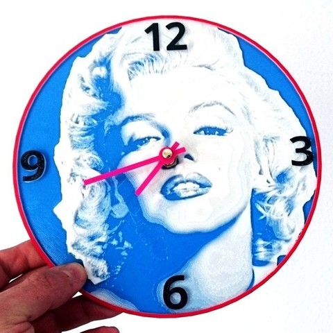Download free 3D printing templates Reloj Marilyn Monroe, 3dlito