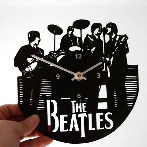 Download free 3D printer templates Reloj The Beatles, 3dlito