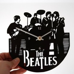Free stl file Reloj The Beatles, 3dlito