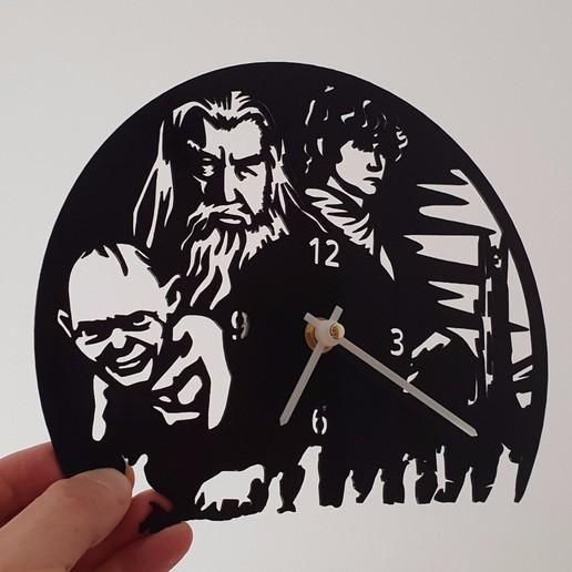 el hobbiit.jpg Download free STL file El Hobbit Clock • 3D printable template, 3dlito