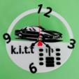 Télécharger plan imprimante 3D gatuit horloge Kitt, 3dlito