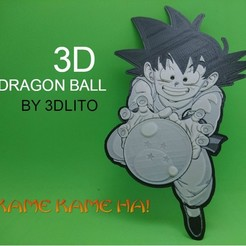 Free 3d model 3D Drawing Son Goku (DRAGON BALL), 3dlito