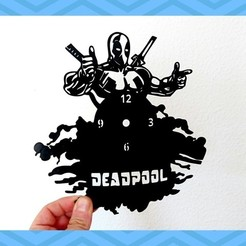 Download free 3D printer files Reloj DEADPOOL, 3dlito