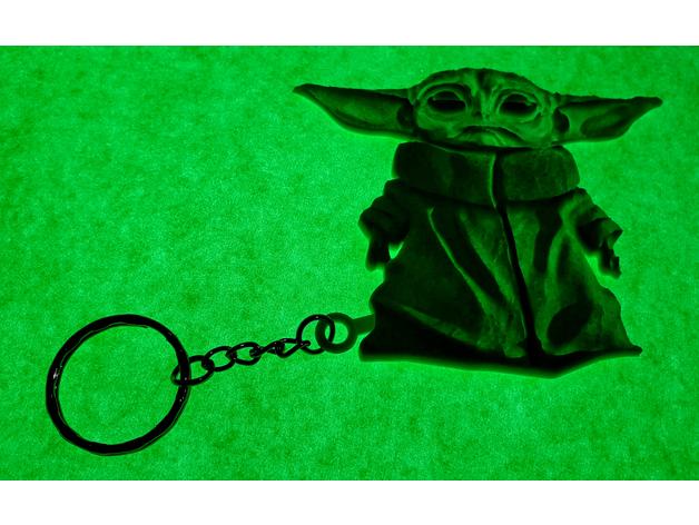 baby1.png Télécharger fichier STL Llavero Baby Yoda • Modèle pour impression 3D, 3dlito