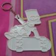 Free Bart keychain lithophane STL file, 3dlito