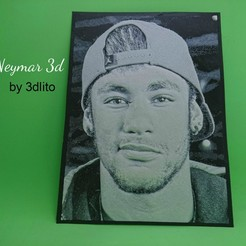 Download free 3D printer templates Neymar 3D drawing, 3dlito