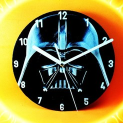 Download free STL file Darth Vader Clock • 3D printable template, 3dlito