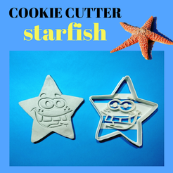 Download 3D printer files Starfish cookie, 3dlito