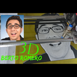 Free STL files 3D Drawing Berto Romero, 3dlito