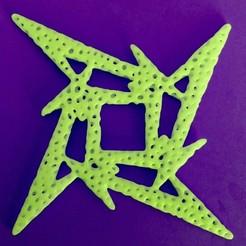 Fichier imprimante 3D gratuit Voronoi MetallicA logo, 3dlito